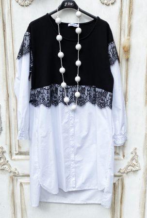Olasz, limitált kollekciós, extra szabású, csipkés hosszított ing, hölgyeim, eleganciára fel:))