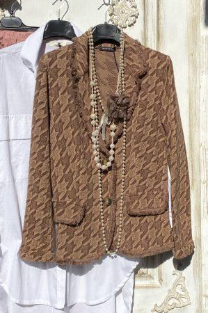 Olasz, limitált kollekciós, extra szabású, zakó/blézer camel/barna, színben, hölgyeim: eleganciára fel.:)))